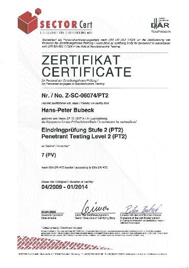 PT2__DIN_EN_473__2009-2014__Industrie Zerstörungsfreie Prüfung